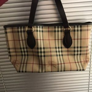 Vintage Burberry Haymarket Tote from 2009